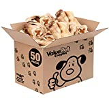 ValueBull Cow Ears, Varied Sizes/Shapes, 50 Count - All Natural Dog Treats, 100% Angus Beef, Single Ingredient Rawhide Alternative, Fully Digestible, Cleans Teeth & Gums
