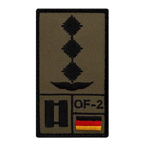 Café Viereck ® Hauptmann Luftwaffe Bundeswehr Rank Patch mit Dienstgrad - Gestickt mit Klett – 9,8 cm x 5,6 cm