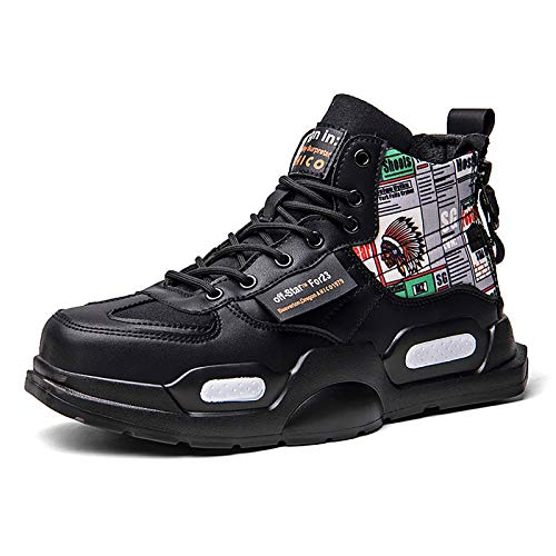 SANNAX Zapatillas de Deporte de Moda para Hombre Zapatillas Altas Zapatillas de Correr Casuales Zapatos Ligeros y Transpirables para Caminar