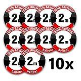 Abstand halten!-Buttons: Hinweis-Anstecker in verschiedenen Designs und Mengen (37 mm, Abstand 2 10er Set)