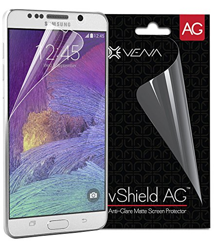 Galaxy Note 5 Screen Protector (3 Pack) - VENA [Anti-Glare Matte] vShield PET Anti-Scratch Shield Film with Lifetime Replacement Warranty for Samsung Galaxy Note 5