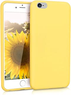 kwmobile TPU Silicone Case for Apple iPhone 6 Plus / 6S Plus - Soft Flexible Shock Absorbent Protective Phone Cover - Pastel Yellow Matte