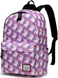 Backpack for Girls, Vaschy Fashion Floral 15 inch School Backpack Laptop Rucksack
