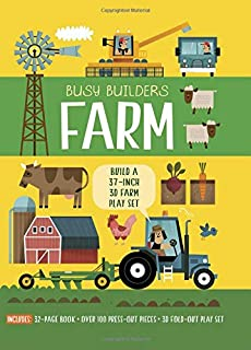 Busy Builders: Farm: Build a 37-inch 3D Farm Play Set - Includes: 32-page Book Over 100 Press-out Pieces 3D Fold-out Play Set