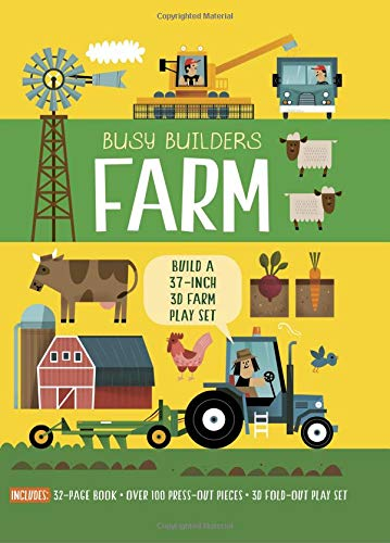 Busy Builders: Farm: Build a 37-inch 3D Farm Play Set - Includes: 32-page Book - Over 100 Press-out Pieces - 3D Fold-out Play Set