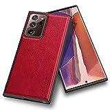 Kqimi Hülle für Samsung Galaxy Note 20 Ultra, Premium Leder Slim Stilvolle Soft Grip Stoßfeste Anti-Kratzschutz Schutzhüllen für Samsung Galaxy Note20 Ultra (6.9