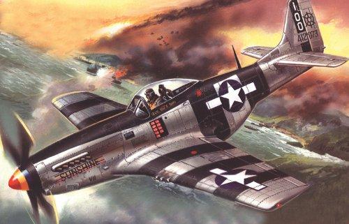 ICM 48154 - Maqueta de avión Mustang P-51K American Fighter de la Segunda Guerra Mundial , color/modelo surtido