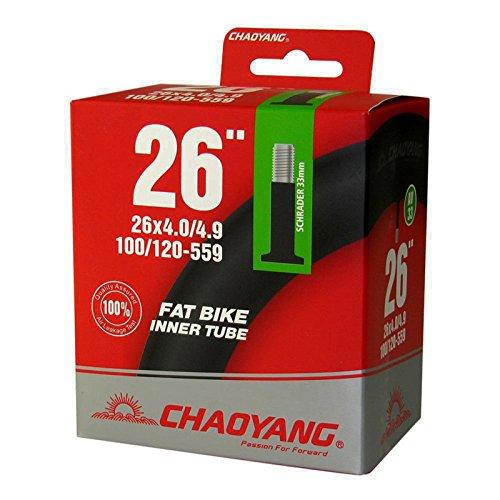 Camara Chaoyang Butylo para Rueda Fat 26' x 4.0 4.90 Valvula Schrader Gruesa Bicicleta 6328