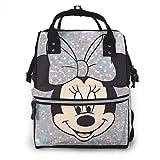 Zaino per pannolini - Zaino da viaggio impermeabile multifunzione Minnie Mouse Borse per pannolini per neonati