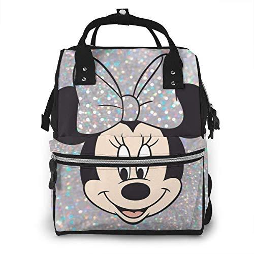 Wickeltasche Rucksack - Minnie Mouse Multifunktions wasserdichter Reiserucksack Mutterschaft Baby Windel Wickeltaschen
