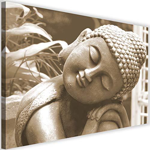 Cuadro en Lienzo Buda 120x80 cm XXL Impresion Calidad fotografica dote sepia