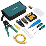 Professional Network Repair Tool Kit- Designed for use with telephone lines, alarm cables, computer cables, intercom lines, speaker wires, computer maintenance and repaired What Included- Included crimping tool, wire stripping knife, flat/cross screw...