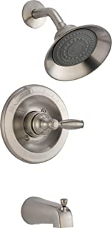 Peerless Claymore Single-Handle Tub and Shower Faucet Trim Kit with Single-Spray Shower Head, Brushed Nickel PTT188790-BN (Valve Not Included)