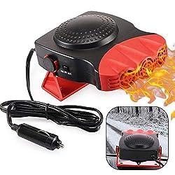 powerful Portable car heater, electronic car heater, fan, high speed heating, defrosting, 12V, 150W, car heater, plug …