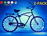 N&M Products Bike Wheel/Lights (2 Pack)- Colorful Light Accessory for Bike - Perfect for Burning Man (Blue)