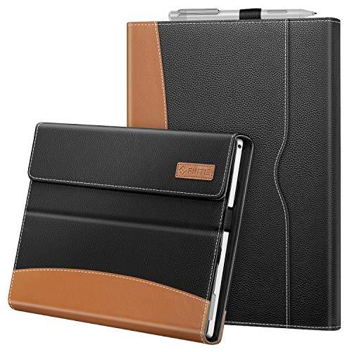 Fintie Hülle für Microsoft Surface Pro 7+ / Pro 7 / Pro 6 / Pro 5 / Pro 4 / Pro 3 - Multi-Sichtwinkel Kunstleder Tasche Schutzhülle mit Dokumentschlitze, Type Cover kompatibel, Schwarz