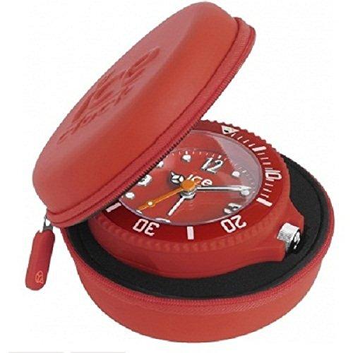 Ice-Clock Travel Alarm Clock - Red