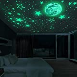 Zueyen 435pcs estrellas luminosas autoadhesivas cielo estrellado pegatinas luminosas calcomanías de pared, cielo estrellado calcomanías luminosas pegatinas de pared puntos para habitaciones de niños