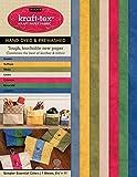 "kraft-tex Sampler Essential Colors Hand-Dyed & Prewashed: Kraft Paper Fabric, 7-Sheets 8.5' x 11"""