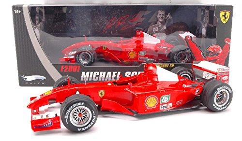 Hot Wheels Model Compatibile con Ferrari F2001 M.Schumacher 2001 N.1 Winn. Hungary GP World Champion 1:18 DIECAST HWN2075