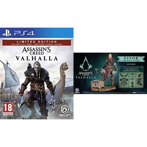 Assassin's Creed Valhalla - Limited [Esclusiva Amazon] - Playstation 4 + Assassin'S Creed Valhalla - Eivor Male Figurine