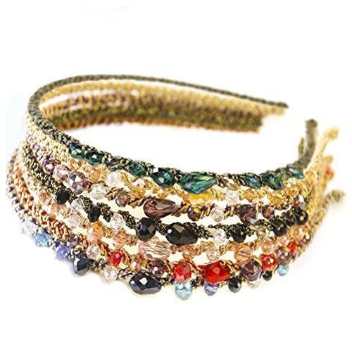 FRCOLOR Femmes cerceau de cheveux, bandeaux de cristal ou Sparkle Jewel Bandeaux cheveux bandeau pour les femmes enfants, lot de 7