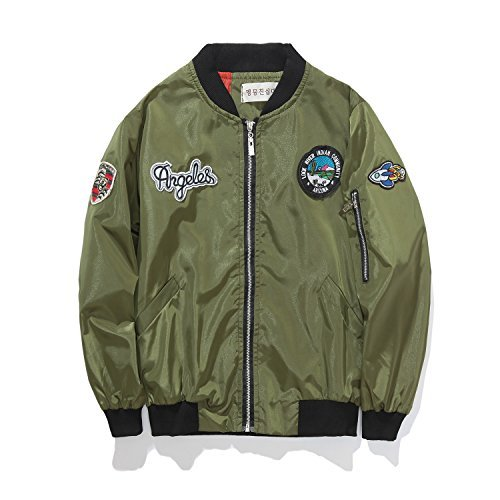 Encontrar Boys Girls Patch Bomber Jackets Lightweight Running Coats Army Green Size 4T