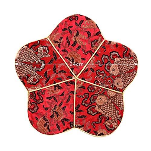 Goddness Bar Tapis de Plateau de thé en Tissu décoratif Coaster Retro Pad Tapis (Style 03)