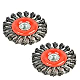 Aain 2 Pack Steel Wire Wheel Brush,Knotted Wire...