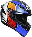 AGV Casco K1 Multi Power Matt Dark azul/naranja/WH MS