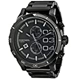 Diesel Men's DZ4326 Double Down Series Analog Display Analog Quartz Black Watch [並行輸入品]