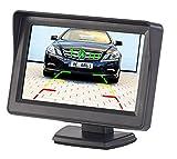 Lescars Rückfahrmonitor: Kfz-Monitor für Rückfahr- & Front-Kamera, LCD-Display mit 10,9 cm/4,3' (Monitor Rückfahrkamera)
