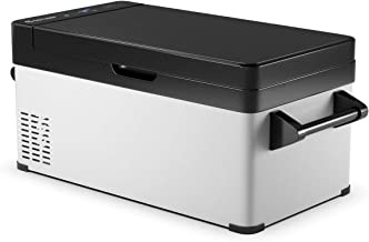 COSTWAY Portable Refrigerator, 32 Quart (30 L) Compressor Freezer -13°F to 50°F, Freezer Dual-Use, Electric Powered Cooler Mini Fridge, Compact Vehicle Refrigerator for Car, Outdoor and Home Use