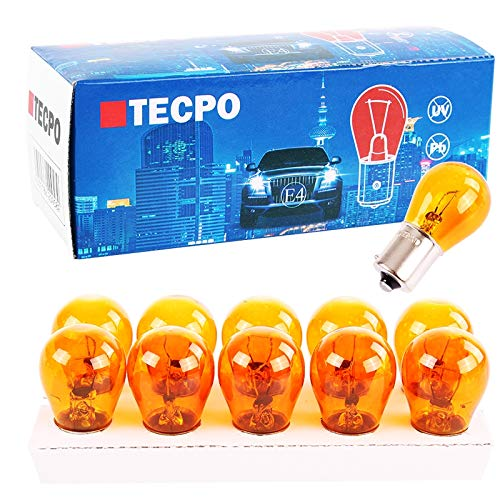 TecPo 10x Blinker Birne PY21W 12V 21W Kugellampe BA15S Blinkerbirnen Autolampe