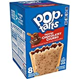 Pop-Tarts Toaster Pastries, Breakfast Foods, Baked in the USA, Frosted Chocolatey Churro, 13.5oz Box (8 Toaster Pastries)