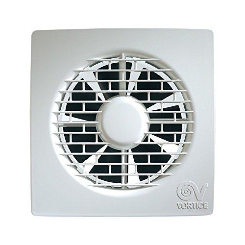 Vortice Aspiratore Elicoidale Ventilatore Punto Filo per ricambio aria bagno con valvola anti ritorno 220/240 V 50 Hz (11124 (Diametro Nominale Condotto 120 mm))