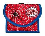 Wedo 2413102 Brustbeutel Spider, mit Münzfach und Sichtfach für Fahrkarte, Rot