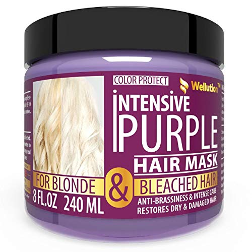 Purple Hair Mask - Experience Royal/Boutique/Salon Level Care – Violet Pigment Hair Toner Supplemented w/Avocado Oil, Retinol & Silk Protein– Reduces Yellow/Brassy Tones - Made in USA