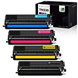 JARBO Compatible Toner Cartridges for Brother TN336 TN-336 TN331 TN-331 High Yield, 1 Set, Use with Brother HL-L8350CDW HL-L8250CDN HL-L8350CDWT MFC-L8600CDW MFC-L8850CDW Printer