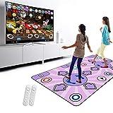CRJT Shop Doppelte Person Tanzmatte, drahtlose rutschfeste Tanzauflagen 3D somatosensorische Tanzmaschinen-Schaum-Spielmatte passend für Spiel-rüttelndes Yoga -
