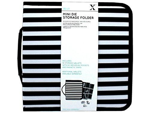Xcut Docrafts Storage Folder Mini Dies Aufbewahrungsbörse, Schwarz-Weiß, Einheitsgröße