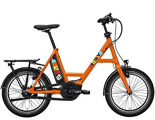 ISY S8 E-Bike 20 Zoll Freilauf ebike Modelljahr 2020 (Orange-Glanz)