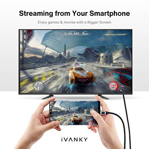 iVANKY USB C auf HDMI Kabel, 4K@60Hz USB Typ C auf HDMI Kabel, Thunderbolt 3 Kompatibel für MacBook Pro/Air, iPad Pro, Galaxy, Microsoft Surface Book 2 und mehr - 2M
