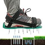 Aireador de césped, sandalias de aireador de césped reutilizables para césped, escarificador de césped con correas ajustables para patio, jardín, tamaño universal para zapatos