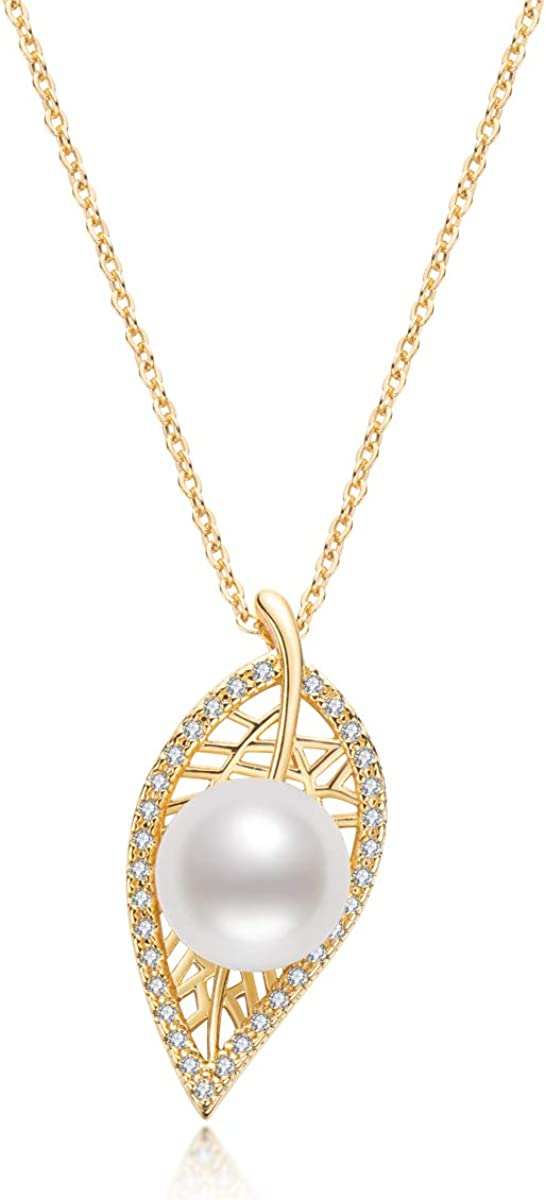 Freshwater Cultured Pearl Necklace for Women Dainty Single Pearl Pendant 14K Gold Filled Pearl Jewelry Gifts Girls