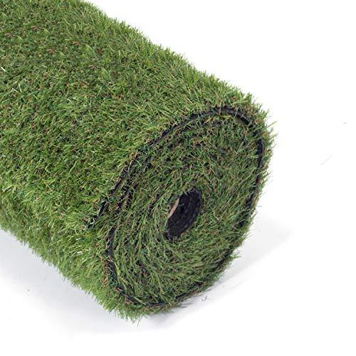"GOLDEN MOON Artificial Grass for Dogs 0.8"" 3ft x 8ft Pet Grass Puppy Potty Training Grass Pee Pad Fake Grass Mat for Garden 5-Tone Realistic & Soft Series"