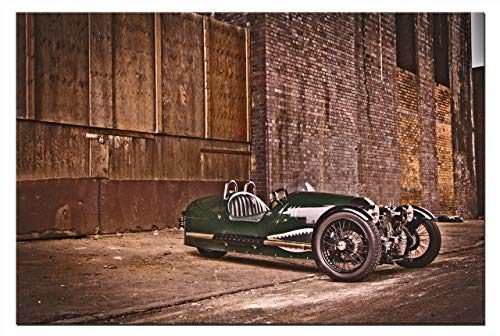 Leinwand-Bild Auto Morgan 3 Wheeler Dreirad Wandbild Grafik Abstrakte Kunstdruck Dekoration