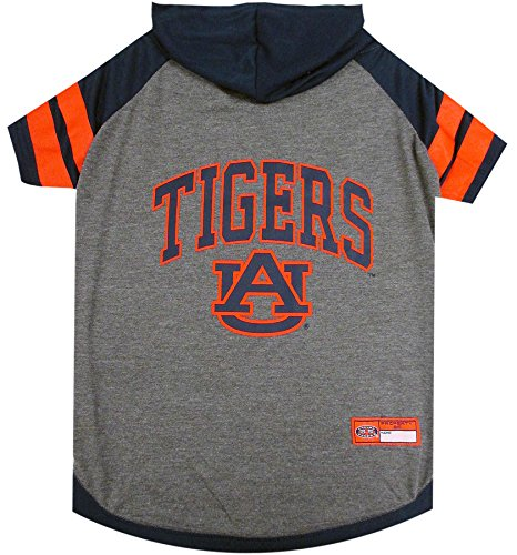 NCAA Auburn Tigers Hoodie for Dogs & Cats, Small.   Collegiate Licensed Dog Hoody Tee Shirt   Sports Hoody T-Shirt for Pets   College Sporty Dog Hoodie Shirt.