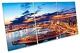 CAGLIARI Harbour Italien Skyline Treble Leinwand Kunstdruck
