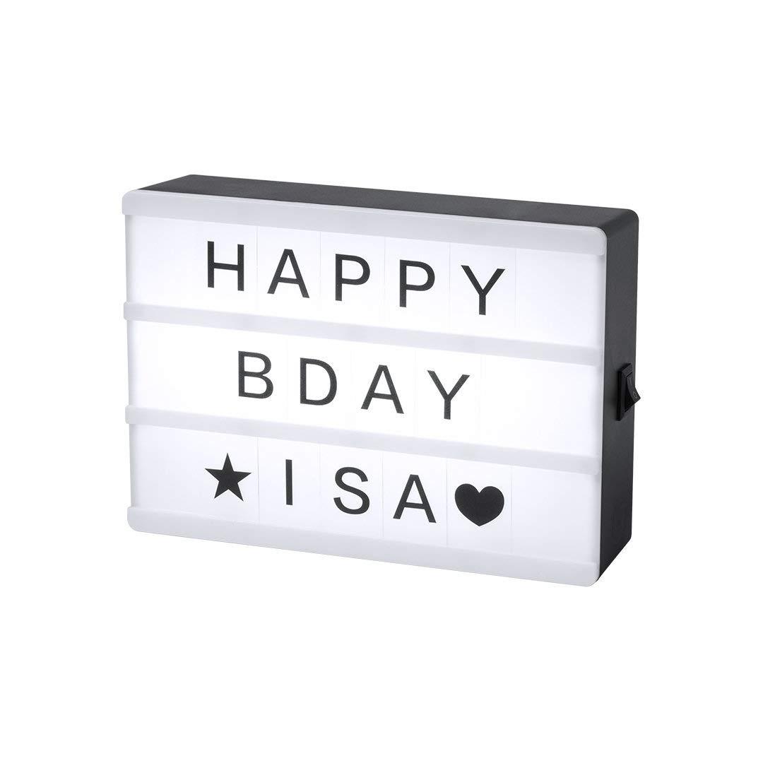 Caja de Luz LED con 82 Piezas Light Box Ideal para Decoración Vintage en Hogar, Habitación, Boda   Regalo Amigo Invisible, Navidad, Cumpleaños. 1 unidad: Amazon.es: Iluminación